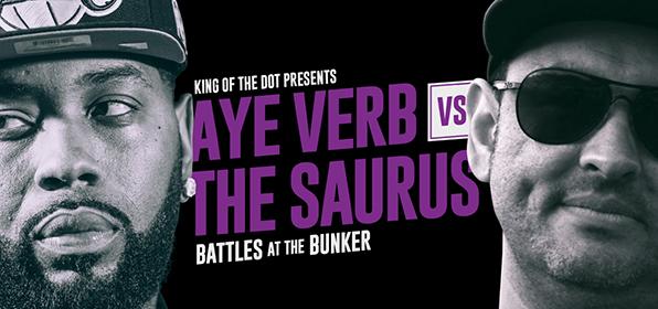Aye Verb vs The Saurus